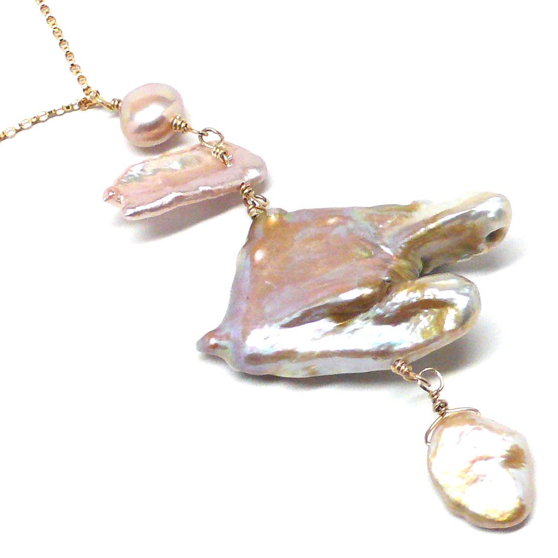 xl mauve bird pearl neck gf5
