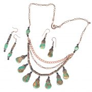 green tq tab copper penshell set